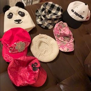 Lot of girls hat, beanie, and caps